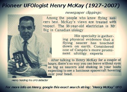 Henry McKay ufo Canada